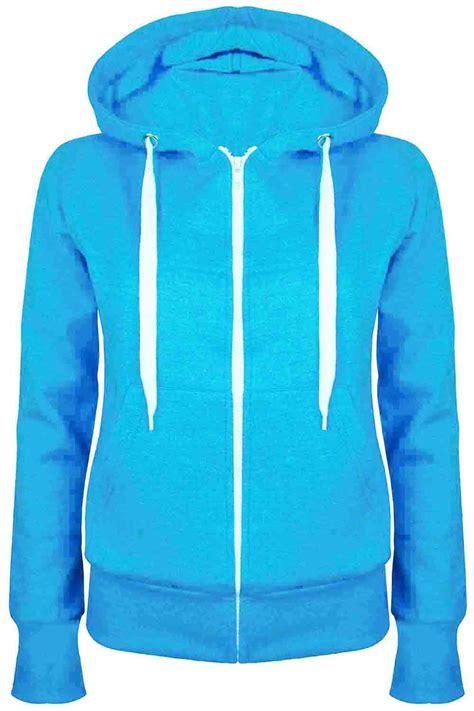 Jaket Parka Hoodie Aftersix plain zip up fleece hoody sweatshirt coat jacket top hoodies 6 24 ebay