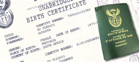 full birth certificate for passport application how to travel to from south africa with a minor