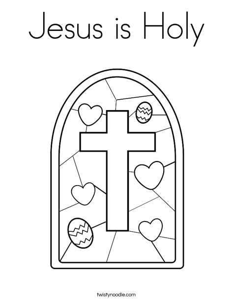 Holy Coloring Page jesus is holy coloring page twisty noodle