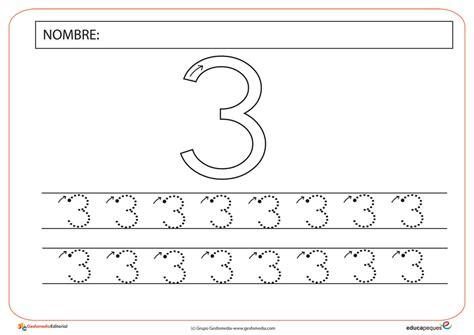 imagenes educativas para preescolar fichas de grafomotricidad con el n 250 mero tres educapeques