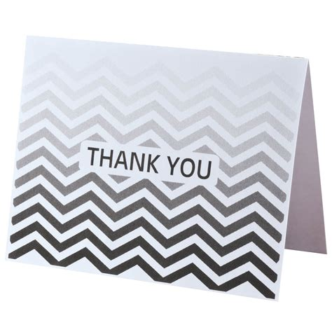 Chevron Gift Card Discount - chevron thank you note cards set of 25 notecards miles kimball