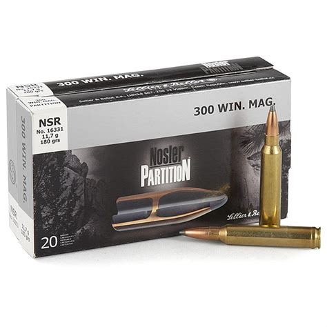 The 100 Gr sellier bellot 243 win 100 grain nosler partition ammo 20 rounds 424025 243