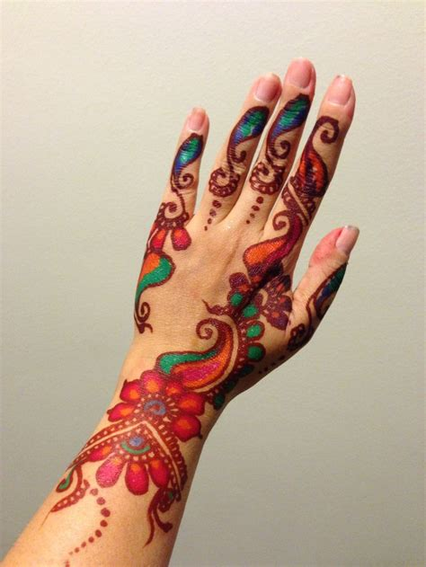 colorful henna tattoos pin by mcelvane on henna and tattoos