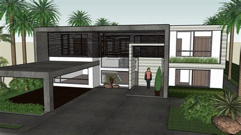 sketchup components  warehouse modern house