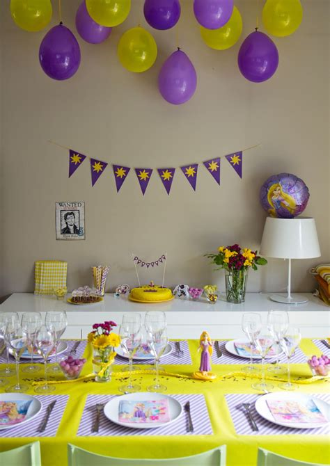 decoration fete anniversaire anniversaireraiponce 06 4 ans tangled birthday