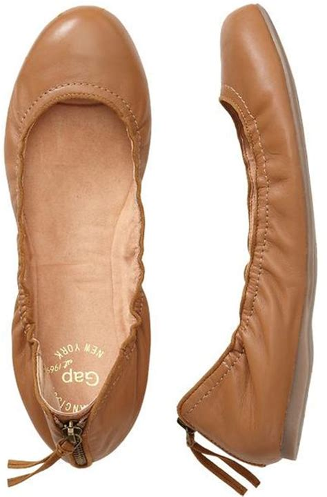gap flat shoes gap scrunch flats in brown camel lyst
