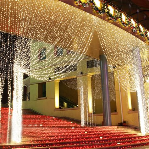 3m 3m 300led Warm White String Light Curtain Xmas Wedding