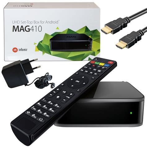 android set top box mag 410 iptv android multimedia player android stalker infomir ip tv box 2gb ram 4260443570775