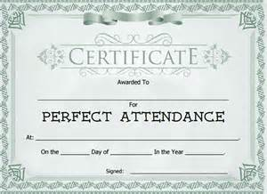 attendance certificate template 24 free word pdf