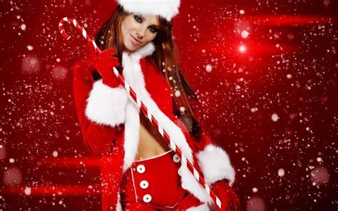 imagenes de santa claus para mujeres wallpaper de navidad de mujeres lindas taringa