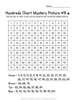 Free Printable Math Mystery Picture Worksheets
