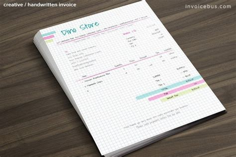 handwritten invoice template 50 creative invoice templates only 14 inkydeals