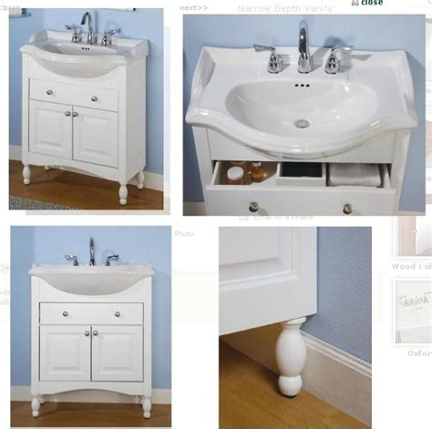 Bathroom Vanity Narrow Depth Sink And Vanity Empire Narrow Depth Vanity With Savoy Ceramic Top Wh