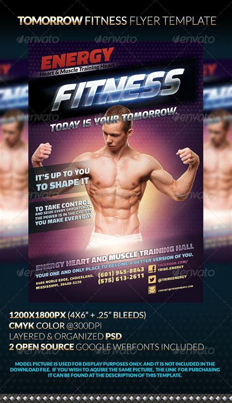 Tomorrow Fitness Flyer Template Graphicriver Open Source Flyer Templates