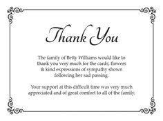 how to write appreciation letter after funeral 1000 ideas about funeral thank you cards on