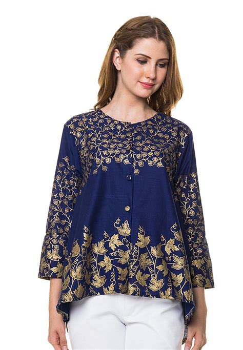 Quincy Label Batik Dress jual baju batik wanita model terbaru mataharimall