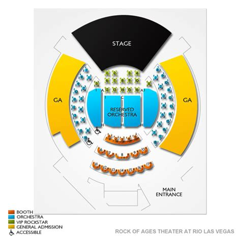 rock seating chart rock of ages theater at las vegas seating chart