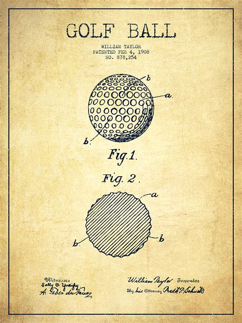 imagenes vintage golf golf ball patent drawing from 1908 vintage drawing by