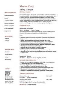 Safety manager resume, sample, example, job description