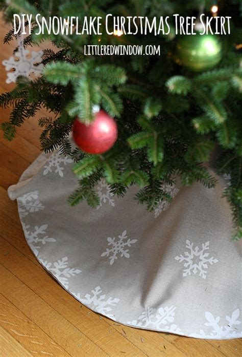 diy snowflake christmas tree skirt little red window