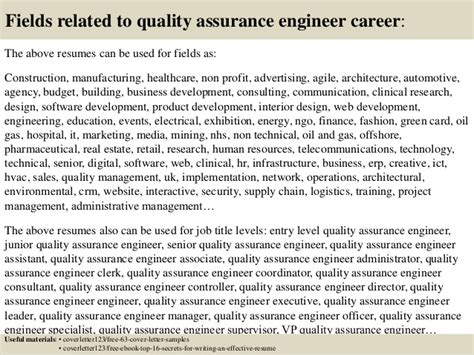 quality assurance engineer cover letter top 5 quality assurance engineer cover letter sles