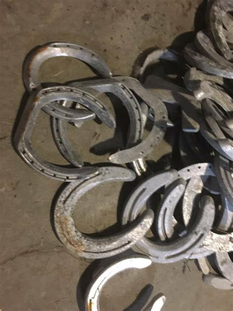 stock   random aluminum horseshoe arts  craft western art rustic ebay