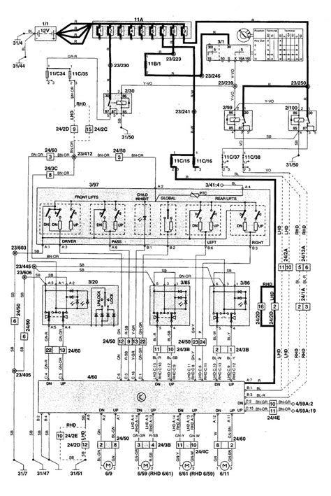 volvo c70 1998 2004 wiring diagrams power windows