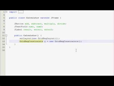 tutorial java gui pdf java gui tutorial 13 simple calculator part 1 of 4