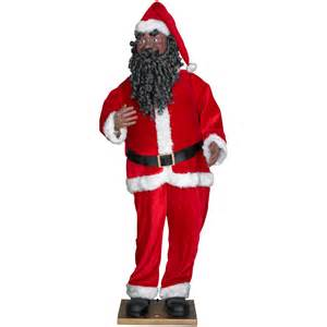 Shop gemmy life size animated african american santa at lowes com
