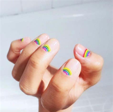 makeup hair nails by katie basingstoke nail instagram s most epic rainbow beauty looks coveteur