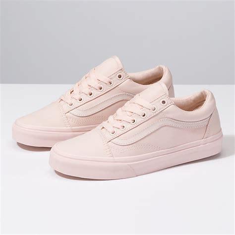 light pink low top vans mono canvas skool shop shoes at vans