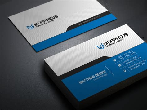morpheus business card business card templates