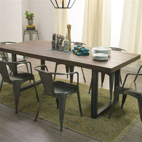 dining room metal dining room table 2017 with wood and