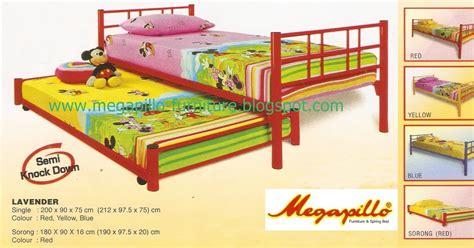 Ranjang Besi Ukuran No 1 megapillo furniture bed shop ranjang besi sorong scs lavender