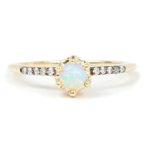 Opal Engagement Rings by 16 Opal Engagement Rings You Ll Fall In With Brit Co