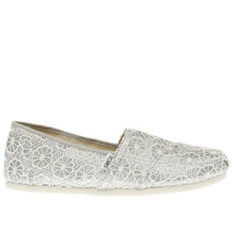 Flat Poxing Glitter Silver womens silver toms crochet glitter flat shoes schuh