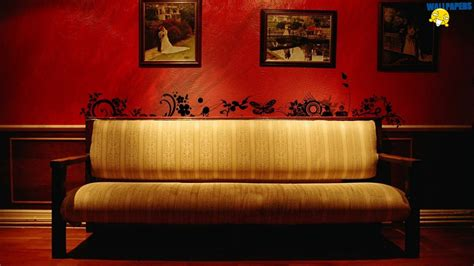 Vintage Sofa Wallpaper 1600 215 900 Creative Design Fullscreen