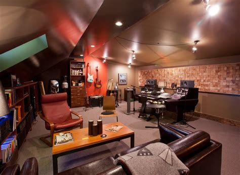 music room design studio home music studio eclectic family room minneapolis