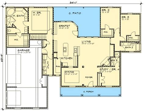 country house plans with open floor plan country home with open floor plan