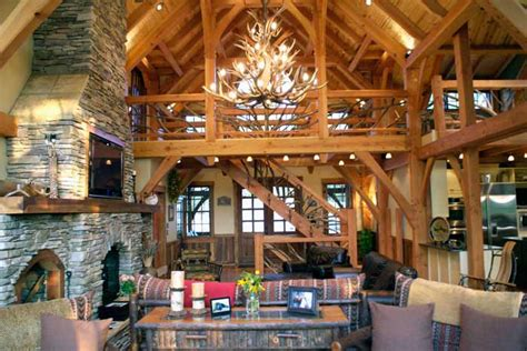 timber frame home interiors timber frame house plan design with photos