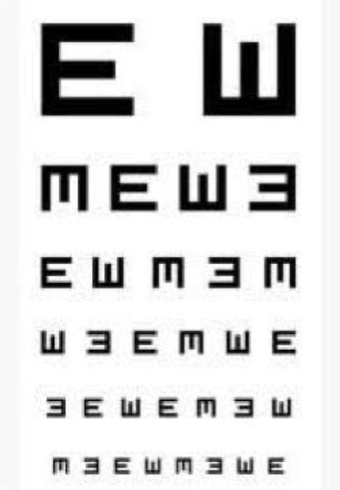 tabella lettere oculista misurazione vista per rinnovo patente nuova normativa