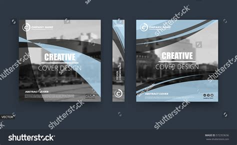 cover layout blurb abstract hi tech blurb white black stock vector 572353636