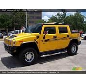 Yellow  2005 Hummer H2 SUT Ebony Black Interior
