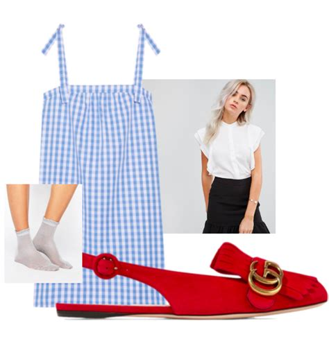 gingham frill ankle socks simple accessories and comfortable get the look for modern dorothy my fashion