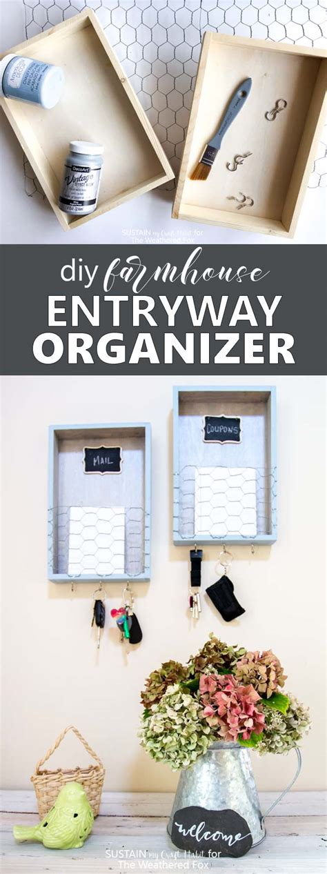 diy entryway organizer diy farmhouse entryway organizer the weathered fox