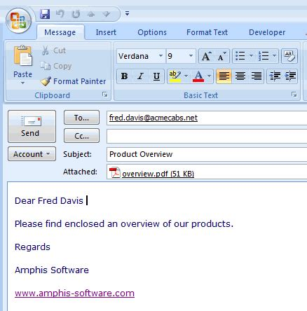Email Using It To Aid Communication Email Template For Sending Attachment