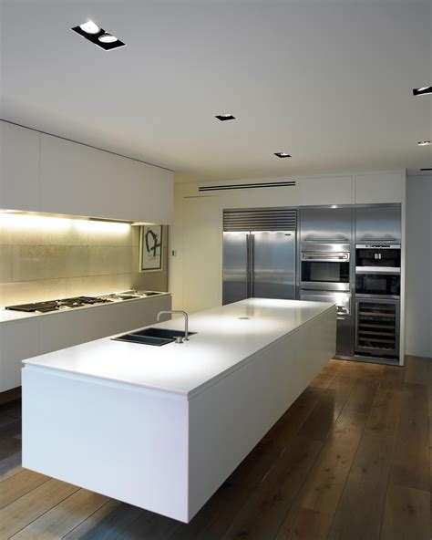 Floating Island Kitchen with System Spotlights From B Architonic