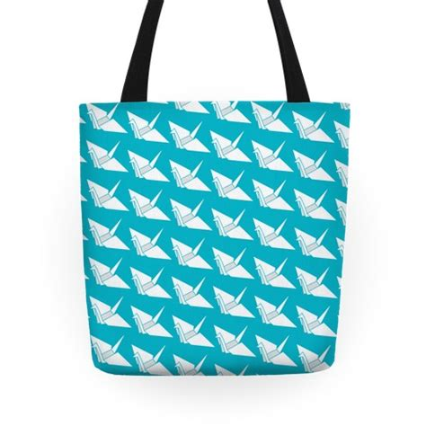 Origami Bag Pattern - origami crane pattern tote bags grocery bags and canvas