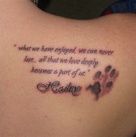 dog memorial tattoo 50 coolest memorial tattoos pet memorial tatoos