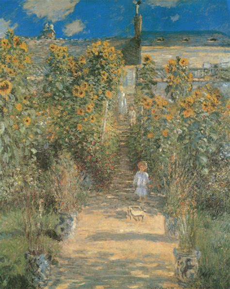 kunstdruck quot monets garten in vetheuil quot monet claude